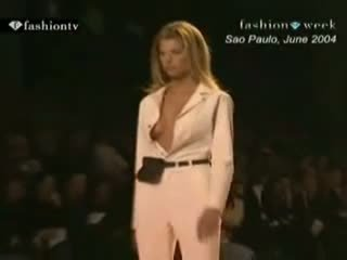Oops - Lingerie Runway Show - See Through And Nude - On Tv - Compilation