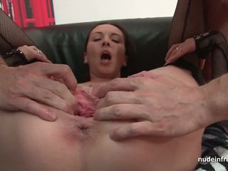 French milf hard sodomized fist fucked and cum covered