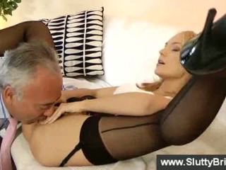 Innocent blonde getting her pussy banged