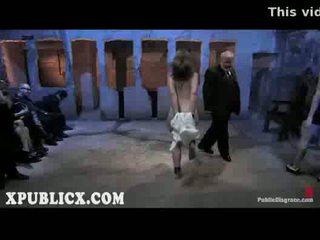 echt kokhalzen actie, vernedering mov, voorlegging video-