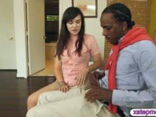 Stepmom Caught Horny Teen Slut Sucking Off A Big Black Cock