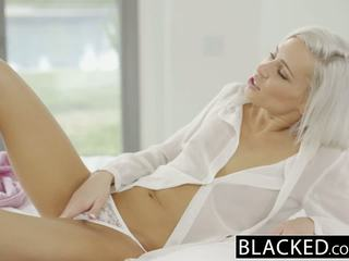Blacked preppy 金发 女朋友 kacey jordan cheats 同 bbc