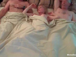 meer groepsseks, oma video-, echt grannies