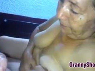 hq oma, echt pijpbeurt, latijn porno