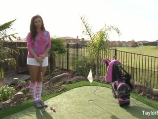 Busty Babe Taylor Plays a Sexy Round of Golf: Free Porn 7e