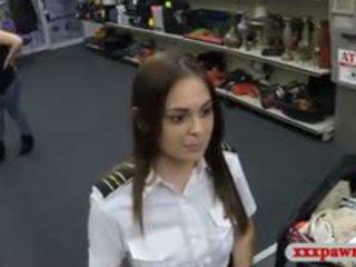 Amatuer Latina Stewardess Gets Banged At The Pawnshop