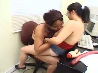 biuro, wibratory, lesbijka, masturbacja