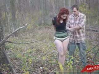 redhead, great bdsm thumbnail, full outdoor fuck