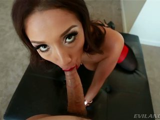 Whorish Cunt Vicki Chase Blows A Prick And Gets A Facial