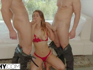 brunette porno, nieuw orale seks, dubbele penetratie neuken