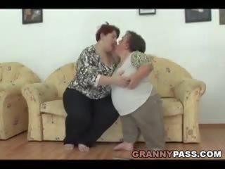 Lesbian Midget Pleases a BBW Granny, Free Porn c4