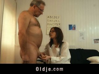 Youthful Chick Doctor Shafting Old Patient