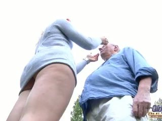 66 pensioner Old butler puts his dick in his young rich bitch lady