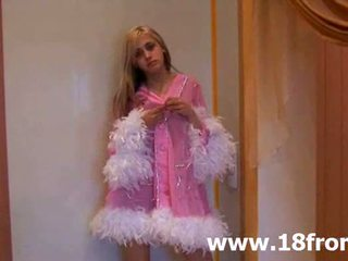 online tieners kanaal, striptease actie, echt euro film