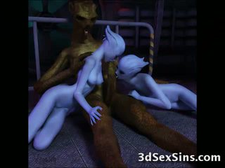 3D Bad Creatures Fuck Good Girls!
