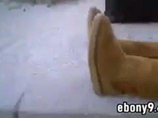 groot realiteit film, kwaliteit solo neuken, zwart en ebony video-