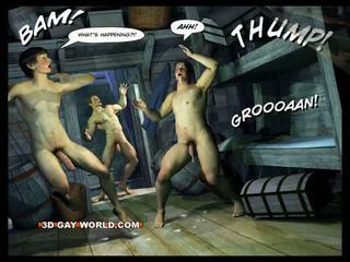 Adventures av cabin b-y 3d homofil verden comics