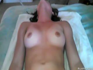 vers brunette scène, zien anaal gepost, pov neuken