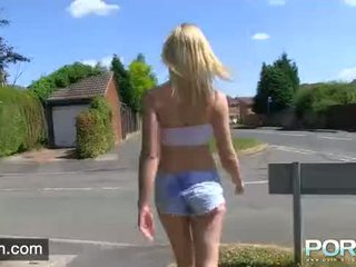 PORNXN Chessie Kay flashes her gorgeous tits while pissing in public