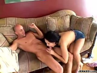 Reina Leone gets sprayed with a load of cum on her big juggs