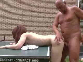 Young Girl Fucked by Old Man in Her Wet Pussy and.