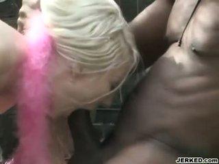heetste interraciale video-, kijken buiten- actie, plezier pornosterren film