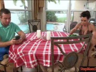 Stepmom lisa ann teaches teenie ava taylor how to fuck