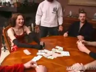 Happy Gangbang at a Card Game