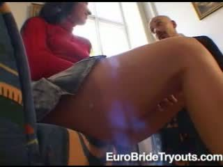 Wonderful superb sexy brunette babe talking and undressing