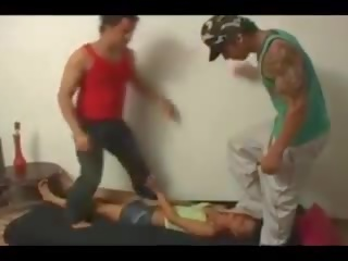 Two Men Trample a Helpless Girl Under Their Feet: Porn 39