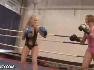 NudeFightClub presents Cipriana vs Barbie White