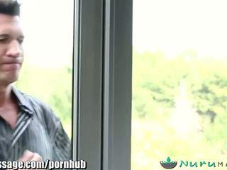 NuruMassage Riley Reid and Step-Dad's Cousin - Porn Video 081