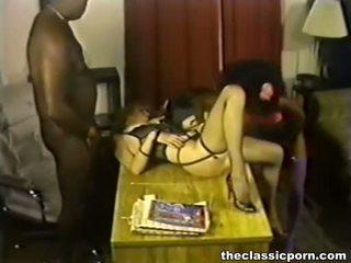 porno sterren, u wijnoogst vid, groot interraciale film