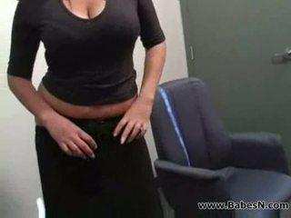 Secretary and boss lesbian sex