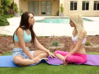 "Yoga Girlfriends Jenna Sativa and Piper Perri <span class=""duration"">- 5 min</span>"