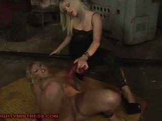 fun bdsm fuck, real hogtied, free bondage thumbnail