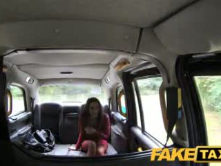 Faketaxi Hot Teen in Red Dress and Stockings
