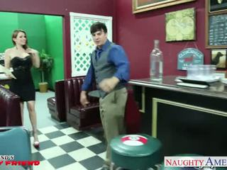 Busty girlfriend Courtney Cummz gives titjob