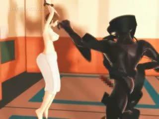 Anime Karate Girl Fights And Fucks Monsters Big Cock