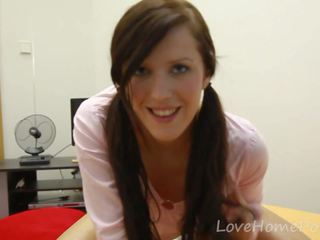 Cutie with Pigtails is Home Alone and Horny: Free Porn 50