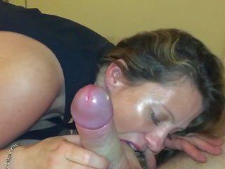 mooi brunette klem, hq orale seks klem, kwaliteit cum shot
