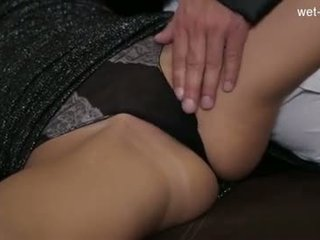 Horny student close up creampie