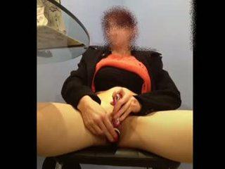 brunette, toys, caucasian, vaginal masturbation