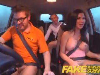 Fake driving স্কুল পরীক্ষা failure ends মধ্যে তিনজনের চুদা double ক্রিমসুখ