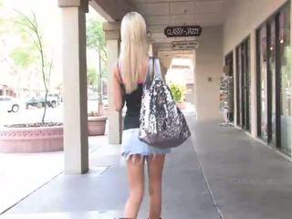 Sophia amazing blonde girl public flashing tits