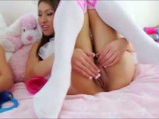 plezier brunette seks, kijken speelgoed, zien anaal thumbnail