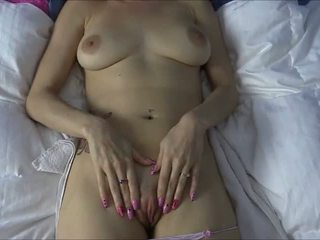 Lelu Love Rubs Your Fresh Cum On Her Pussy For A Big O