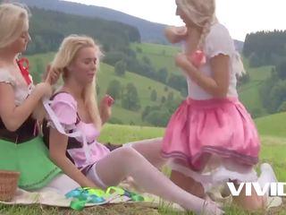 tuore blondit rated, lesbot, eurooppalainen tuore