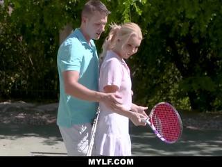 MYLF - Tennis Instructor Fucks Hot MILF
