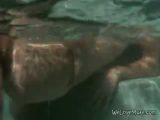 Lesbians Finger Fat And Wet Pussy Under Water